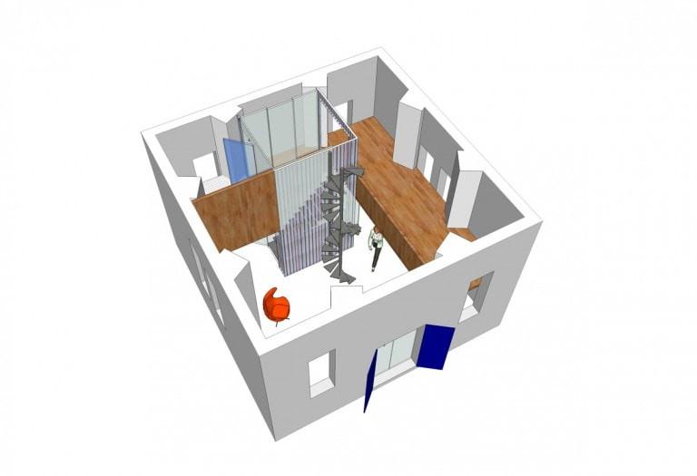verbouwing-watertoren-woonhuis-plattegrond-3d